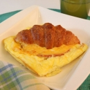 Croissant Soufflé with Cheese and Ham