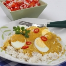 Hard Boiled Eggs with Mild Curry Sauce
