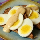 Toast & Egg Slices with Creamy Mustard Sauce