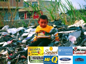 child on e-waste